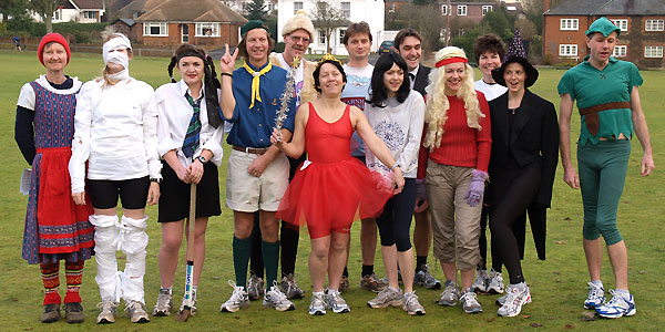 Competitors in fancy dress before the 2005 Club Handicap race