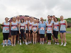 Farnham Runners team at the 2006 Alton 10