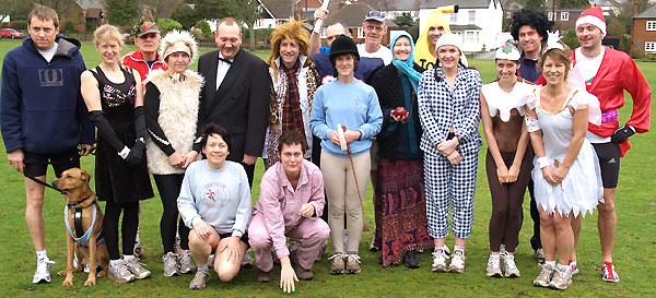 Competitors in fancy dress before the 2006 Club Handicap race