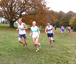 Dan Smith among the runners at the 2006 HXCL race at Goodwood
