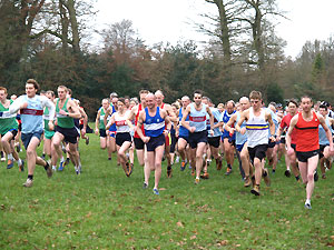 Tim Cummins and Dan Smith amongst the runners at the start of the 2006 TRXCL race at Midhurst