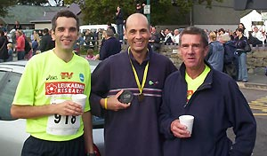 Dan Smith, John Appleby and Terry Steadman after Beachy Head and Snowdonia Marathons