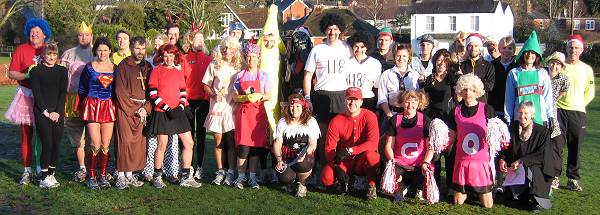 Competitors in fancy dress before start of the 2009 Club Handicap race