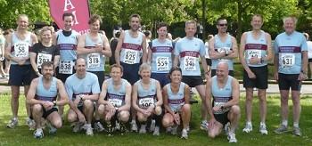 Farnham Runners group before start of 2009 Netley 10K