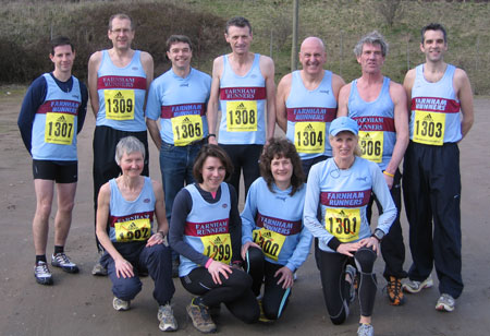 Farnham Runners team at the 2010 TRXCL final race in Burton-on-Trent