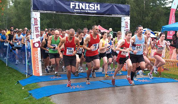 Start of the 2011 Alice Holt races 5K