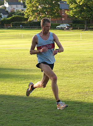 Ian Carley finishing the 2011 Club Championship