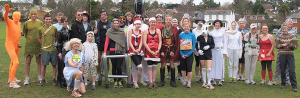 Runners in fancy dress before start of the 2011 Club Handicap