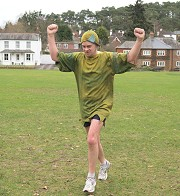 Mark Beeson finishing first in the 2011 Club Handicap race