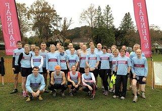 Farnham Runners team before the start of the 2011 TRXCL race in Farnham