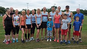 Group at Brockenhurst parkrun