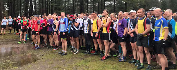 Runners lined up for start of 2017 SXCL race in Farnham