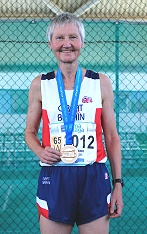 Jane Georghiou with 2018 WMAF team cross country gold medal