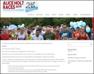 Alice Holt Races website screenshot