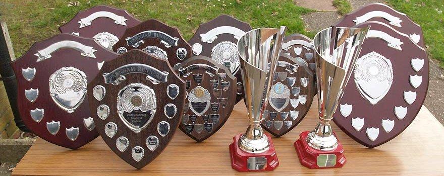 Club Championship trophies