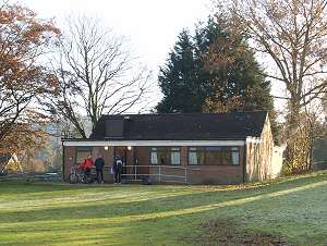 Club house on Bourne Green, Farnham