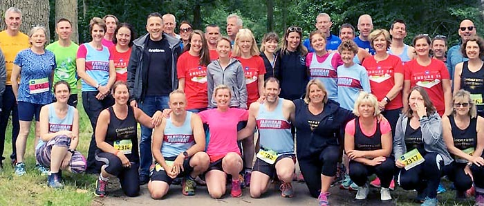 Farnham Runners participants in Endure 24 in 2019