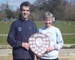 Dan Smith and Jane Georghiou with the TRXCL shield for the 2008-09 series