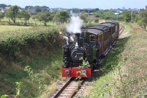 Steam train on the Talyllyn railway