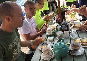 Eating afternoon tea at Seale Tea Rooms