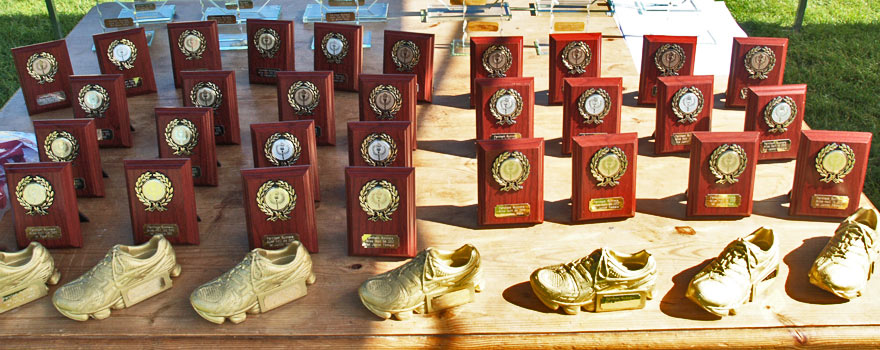 Alice Holt Forest Races trophies ready to be presented