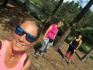Runners on Covid training run in the Bourne Woods