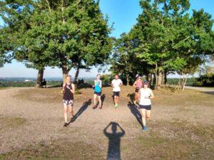 Runners on Covid training run at Caesars Camp