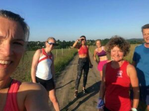 Runners on Covid training run at Dippenhall