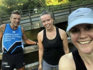Runners on Covid training run at Tilford
