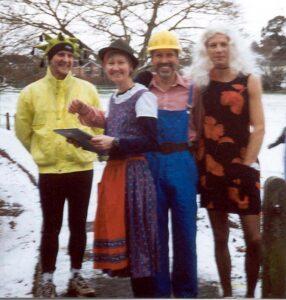 Members in fancy dress at 2000 Club Handicap