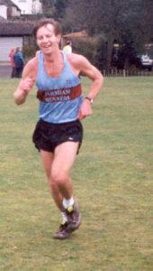 Runner finishing the 2000 TRXCL race in Farnham