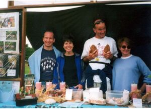 Members manning stall at 2001 Bourne Show
