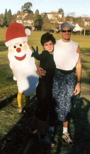 Lindsay and Stoofer in fancy dress at 2001 Club Handicap