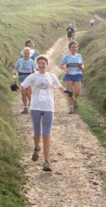 Members running in 2001 Seven Sisters Marathon