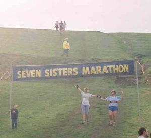 Members finishing the 2001 Seven Sisters Marathon