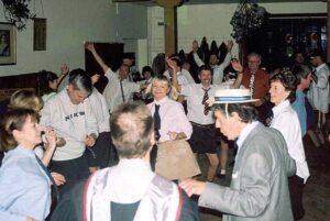 Members dancing at 2001 Xmas Party