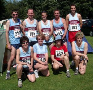 Group at the 2002 Race the Train race in Wales