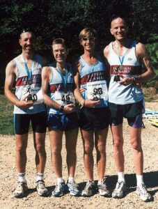 Members with trophies at the 2003 Alice Holt 10K