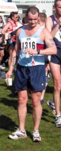 Member after finishing the 2003 Fleet Half Marathon