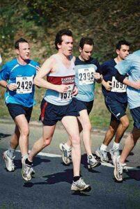member running at the 2003 Fleet Half Marathon