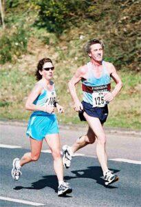 Terry Steadman running at the 2003 Fleet Half Marathon