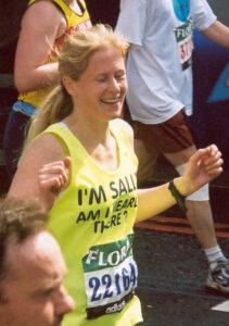 Member running at the 2003 London Marathon