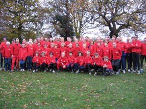 England team including Farnham Runner Jane Georghiou at the 2004 British Masters Cross Country International