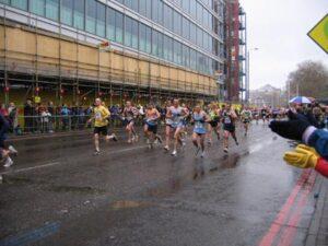 Farnham Runners in the 2004 London Marathon