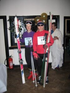 Members at the 2004 Xmas Party with theme Olympics