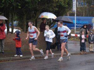 Members running at 2005 Boxing Day Fun Run