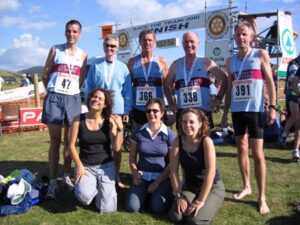 Farnham Runners team at the 2005 Race the Train event in Tywyn