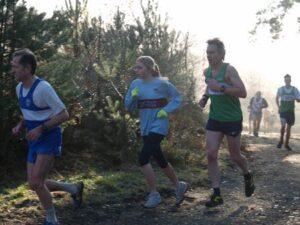 Members running in 2005 Todays Runner Cross Country at Farnham