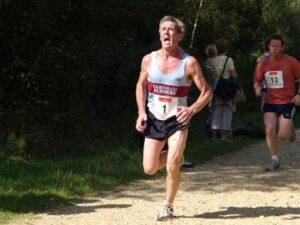 Terry Steadman running in 2006 Alice Holt 10K