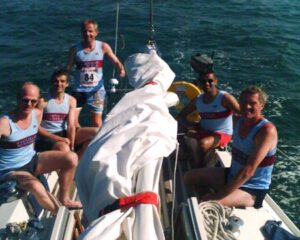 Members sailing across Solent to 2006 Brading 10